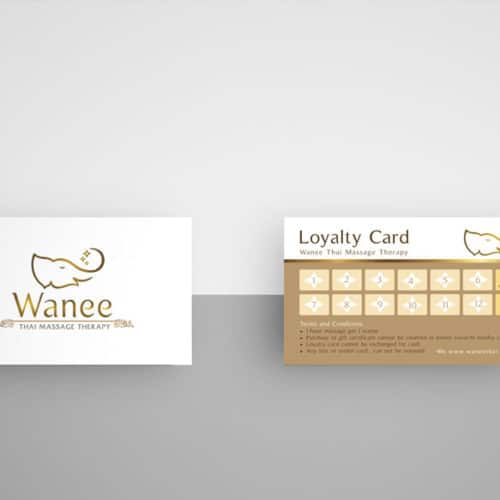 Loyalty Card & Gift Voucher Wanee Thai Massage