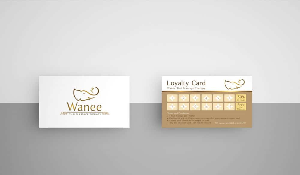 Loyalty Card & Gift Voucher Wanee Thai Massage