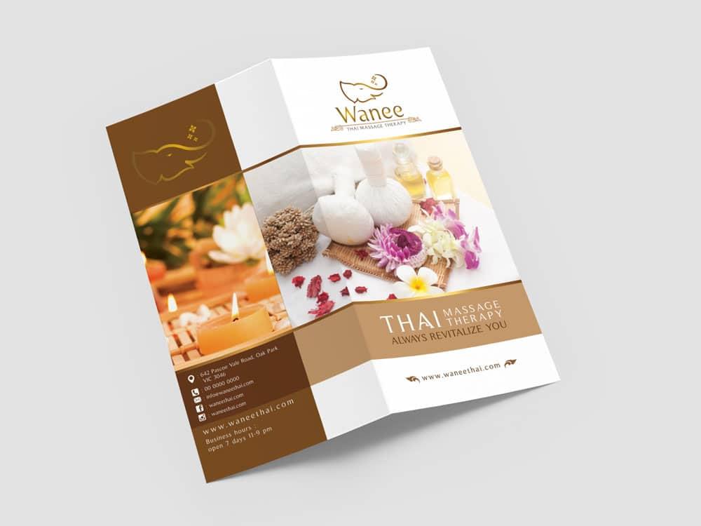 โบรชัวร์ Wanee Thai Massage