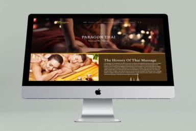 ออกแบบเว็บไซต์ Paragon Thai Massage