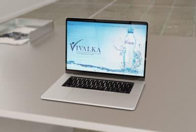 ออกแบบเว็บไซต์น้ำดื่ม Vivalka