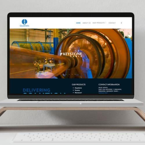 ออกแบบเว็บไซต์บริษัท Quadratic