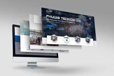 ออกแบบเว็บไซต์บริษัท Phuwistech